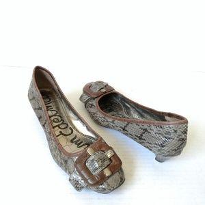 Sam Edelman hadley snakeskin ballet flats pumps